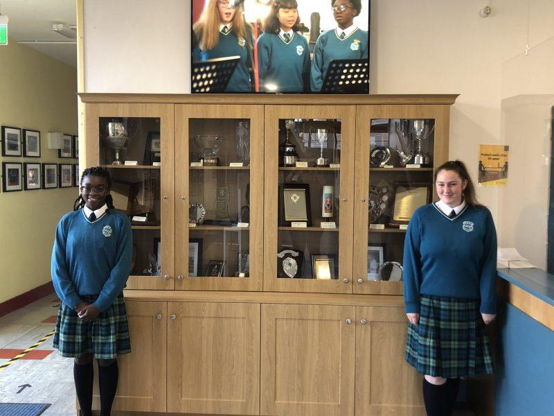 2020-2021: Head girl Joy Adekanmbi Baka and deputy head girl, Siobhan O'Hanlon